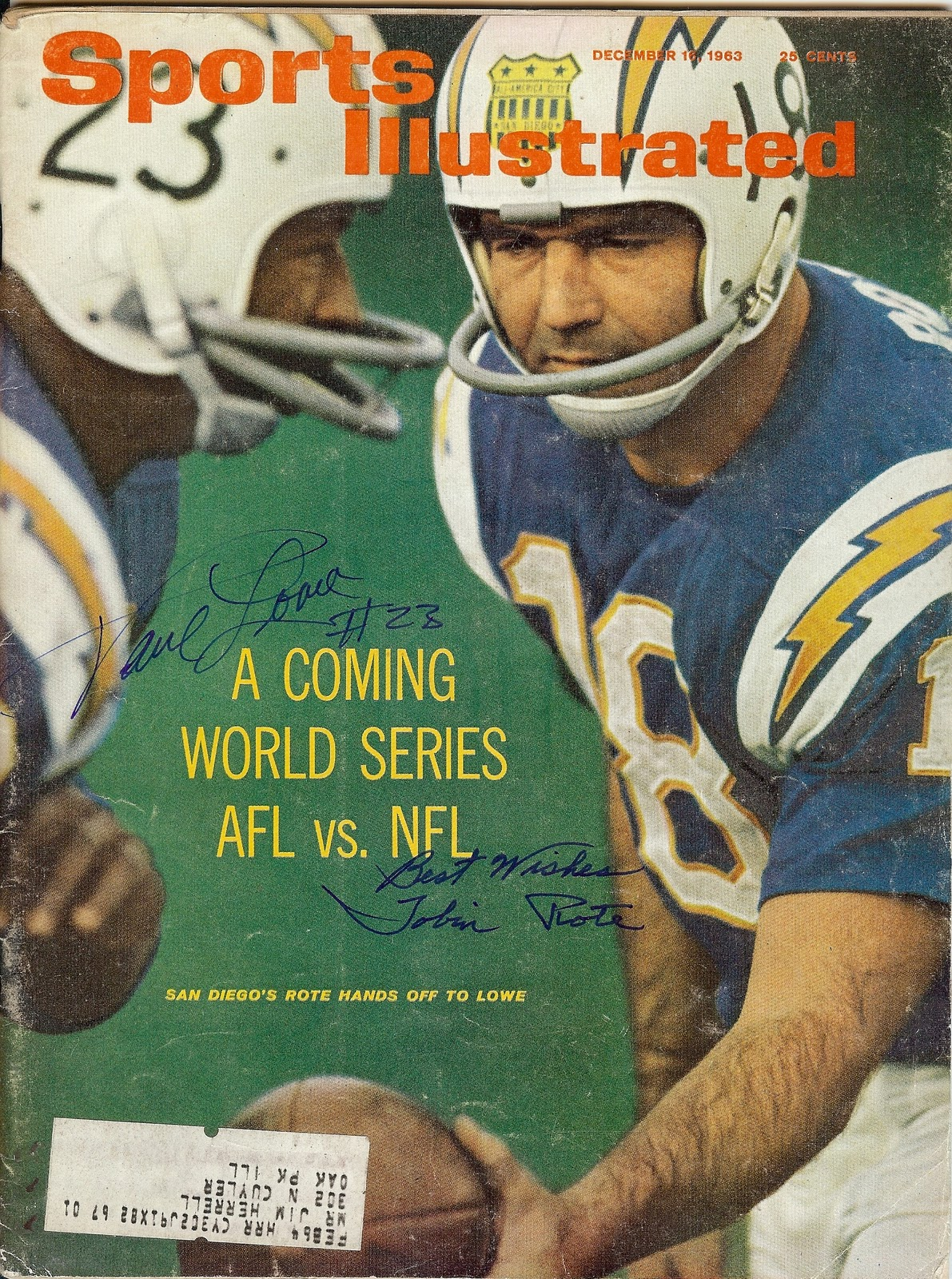 Sports Illustrated Archives Tales From The Afl Tales