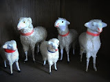 Antique Putz Sheeps