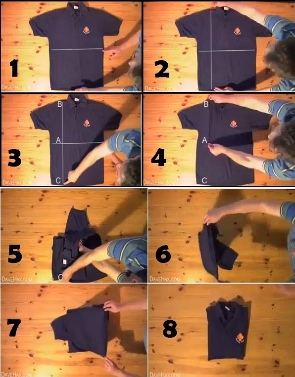 DIY How To Fold a Shirt in less than 2 Seconds
