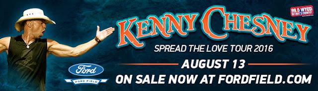 ford field kenney chesney miranda lambert concert spread the love detroit country music