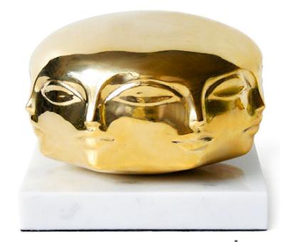 Off-the-peg Surrealist brass sculpture at Jonathan Adler...