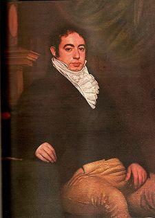 Bernardino Rivadavia posando sentado