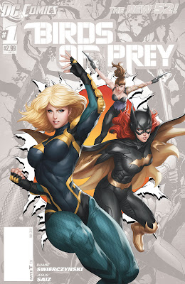 Cover of Birds of Prey #0 featuring Black Canary and Batgirl