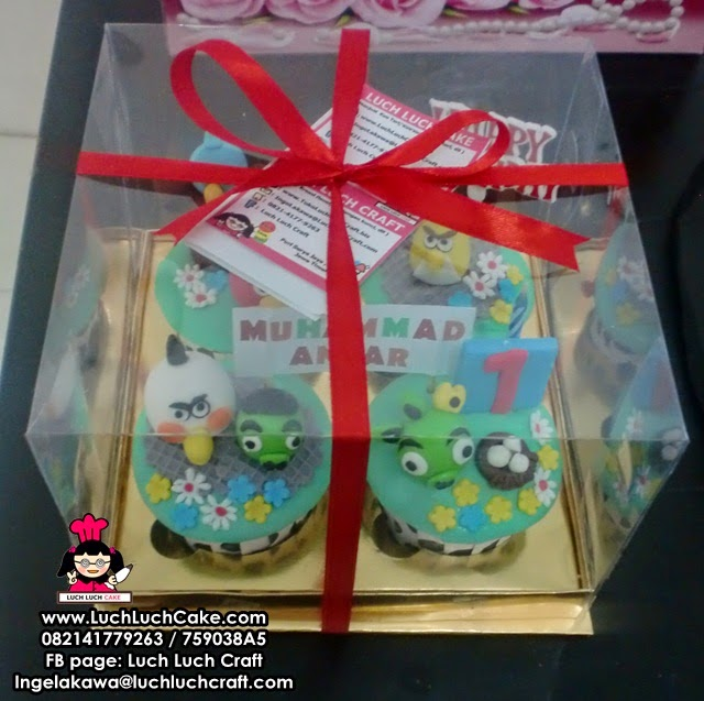 Cupcake Angry Bird Lucu Daerah Surabaya - Sidoarjo