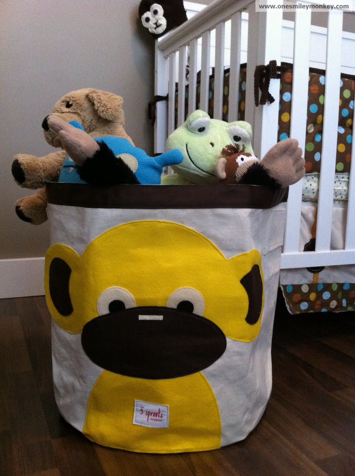 yellow monkey storage bin by  sprouts review closed giveaway -