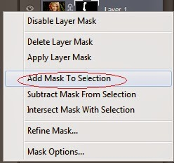 add mask to selection