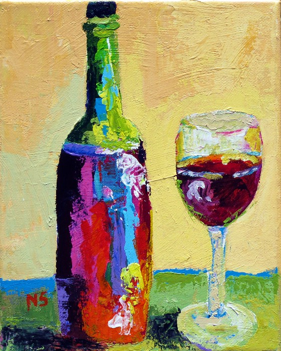 Nancy standlee fine art totally random updated 12064 for How to paint a wine glass with acrylics