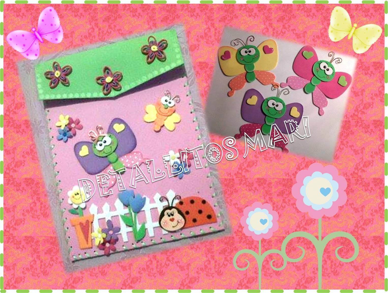 Carpetas adornadas con mariposas - Imagui