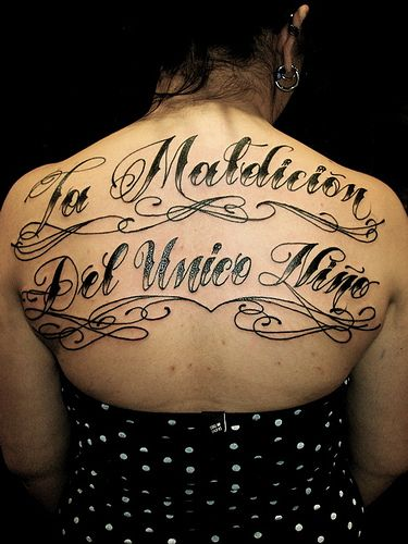 Writing style for tattoos