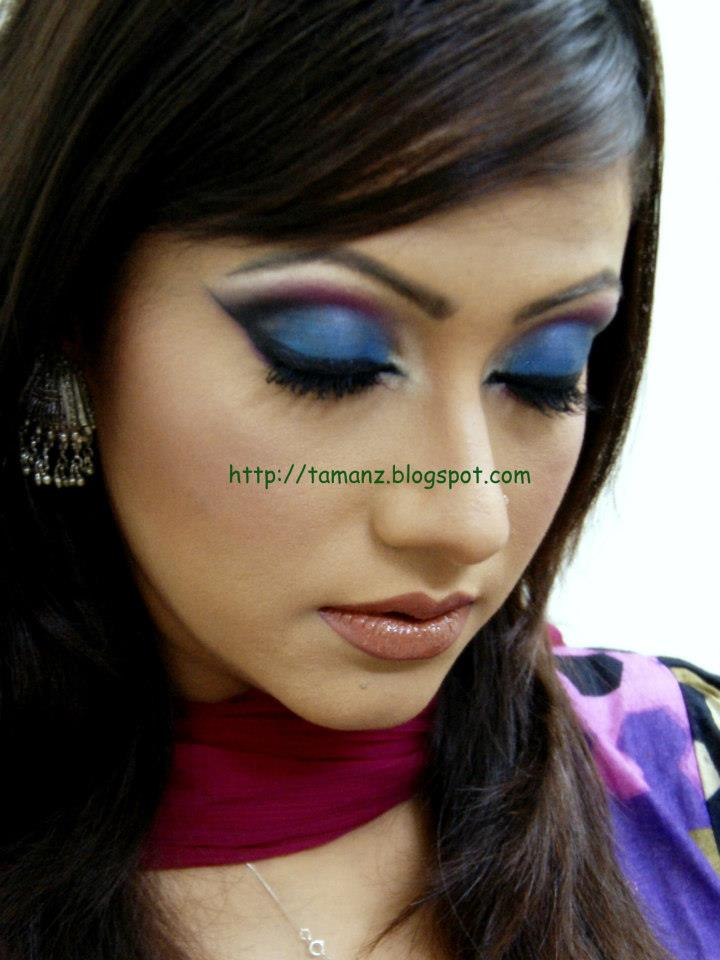 GreenStory: Tutorial: Blue shot: Eye look for heavy makeup - Heavy Makeup