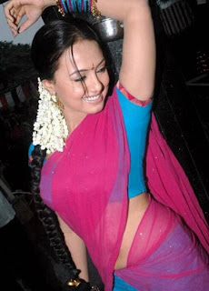 Aunty Saree Blouse Navels Strip cleavage