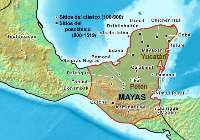 civilizaci n maya ubicaci n geogr fica