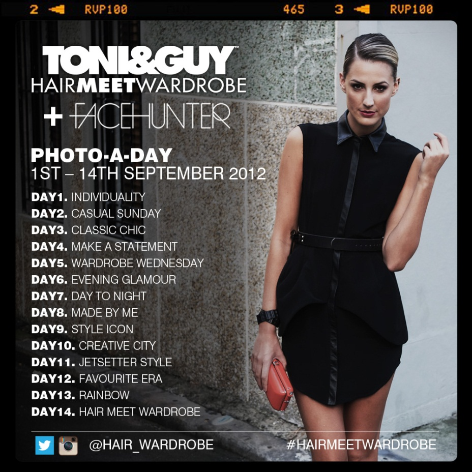 Toni Guy Hair Meet Wardrobe Style Hub X Facehunter Photo A Day