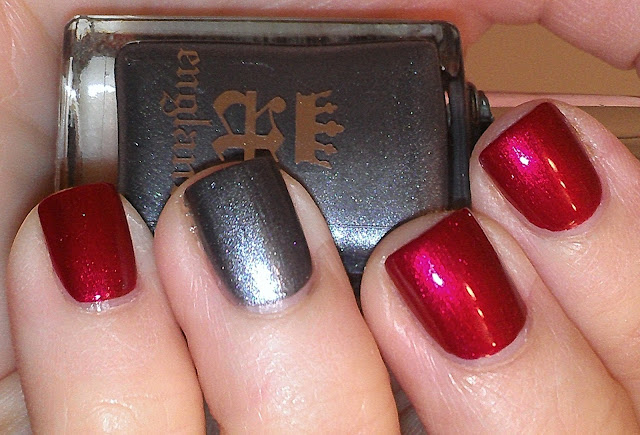 shimmer red shimmer grey slate