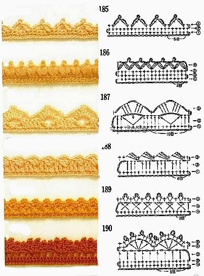 Uncinetto e crochet raccolta schemi per bordi e for Bordi uncinetto per tovaglie