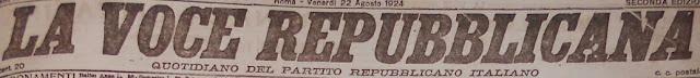 la voce repubblicana - quotidiano del partito repubblicano italiano - testata