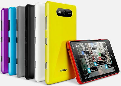 Nokia Lumia 820 - Available in Black, Gray, Red, Yellow, White, Blue, Violet