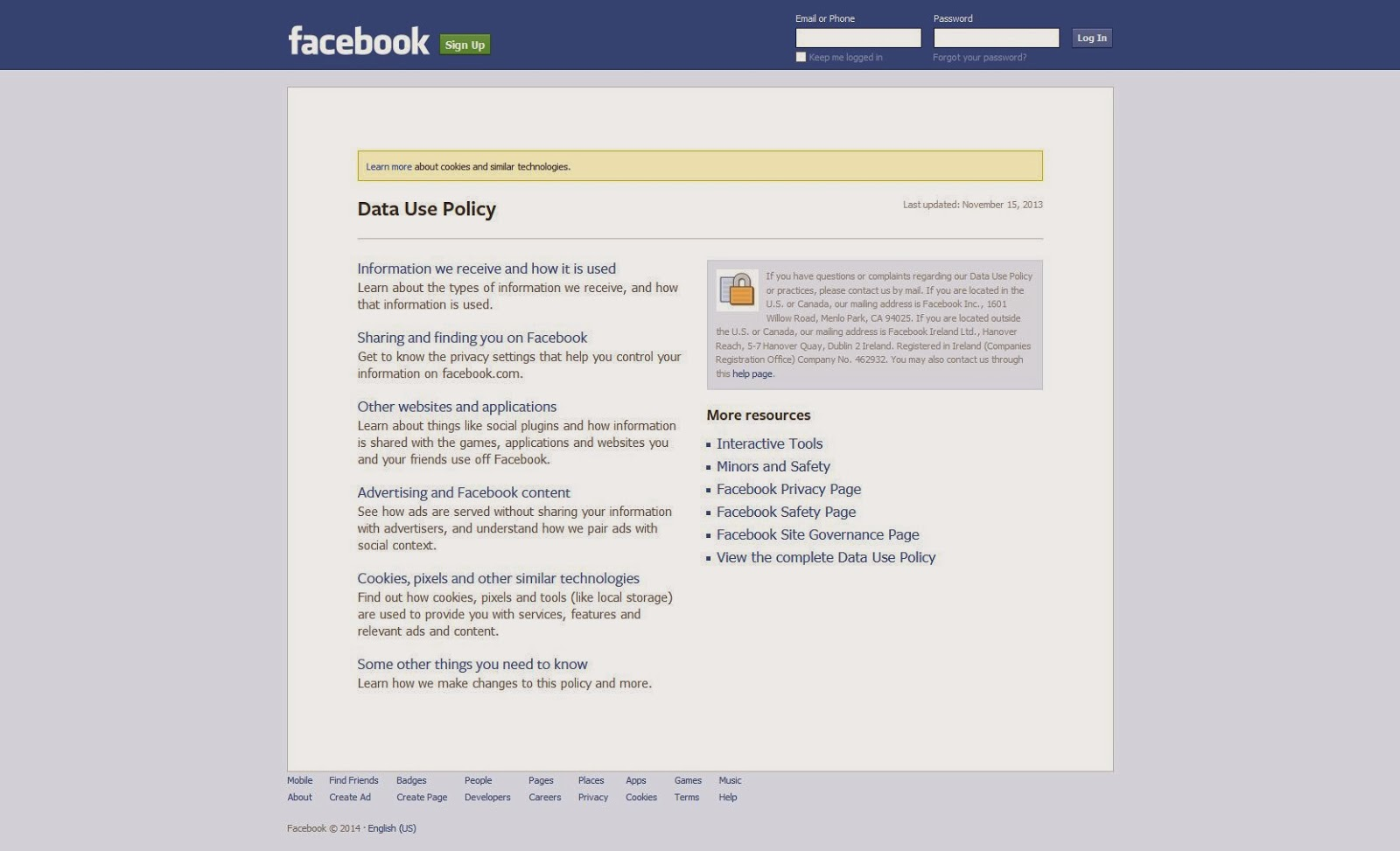 welcome to facebook log in sign up or learn morehtml