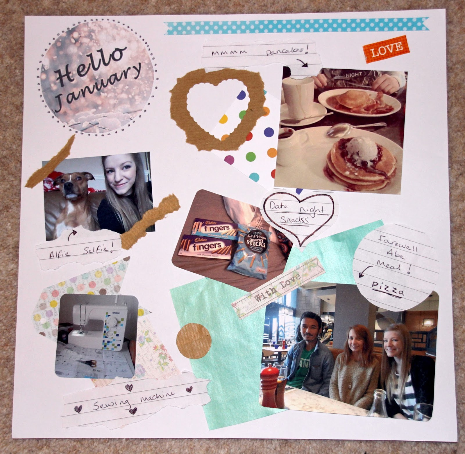 January scrapbook lifestyle
