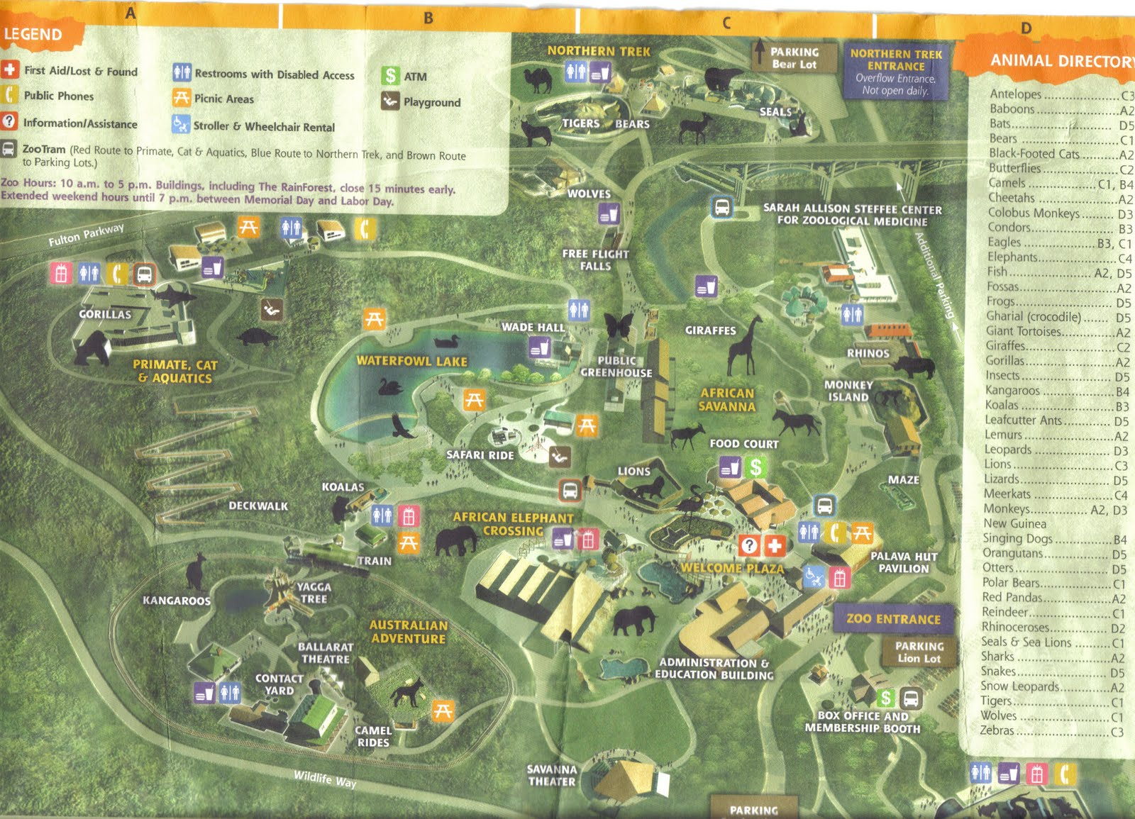 Zoo Tails: Cleveland Zoo 2011 Map on