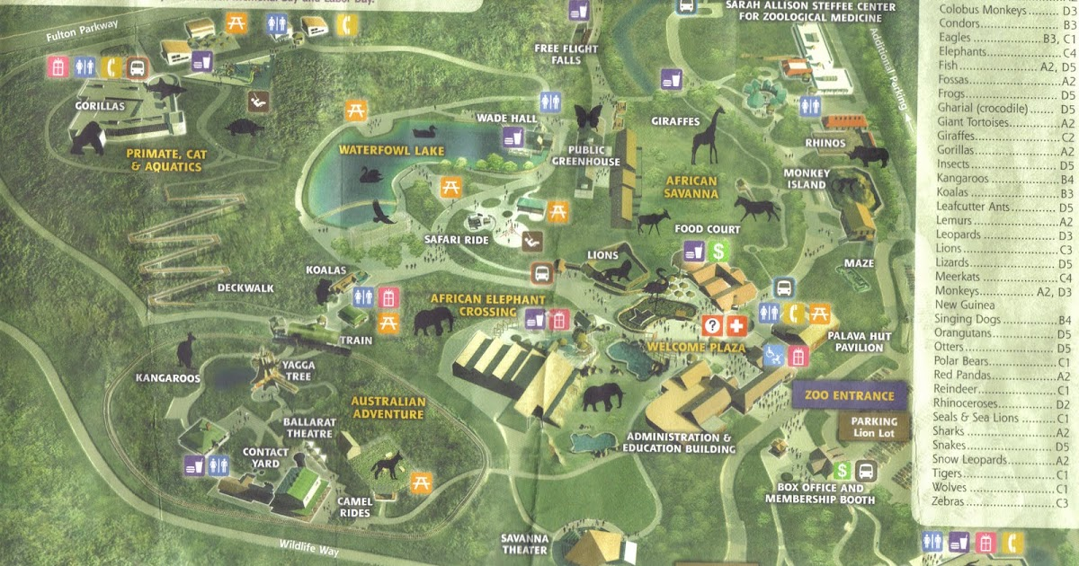 Zoo Tails: Cleveland Zoo 2011 Map