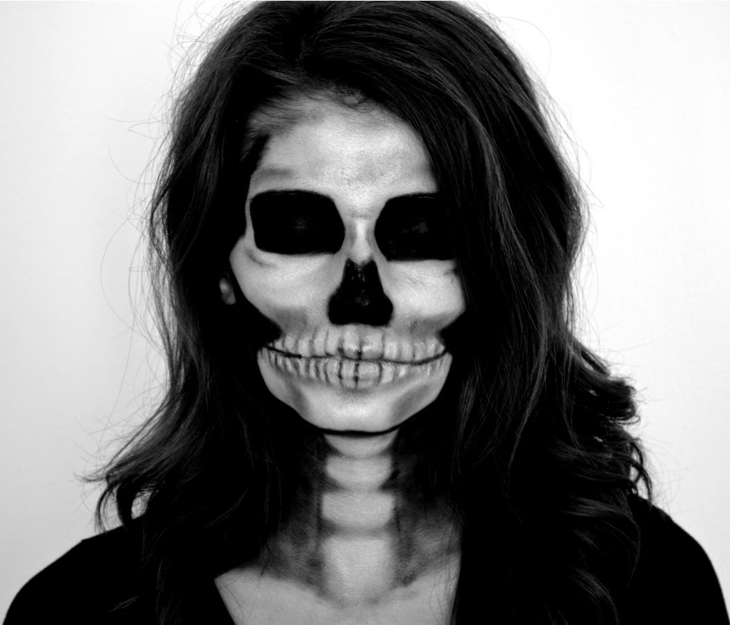 creepy skeleton makeup tutorial