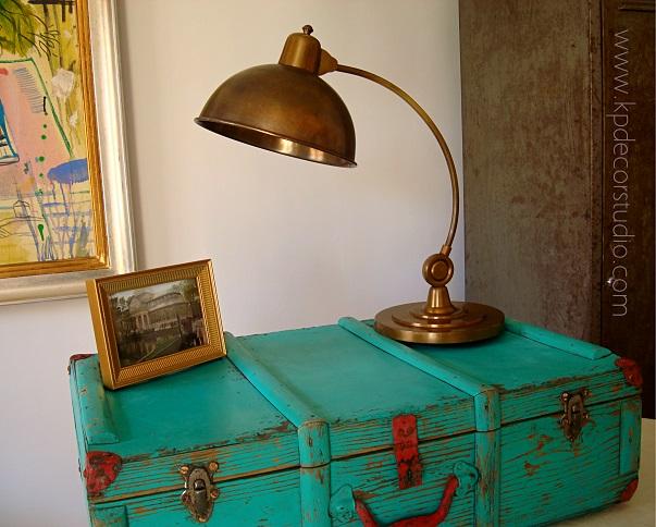 Lámparas de mesa vintage y flexos estilo art deco