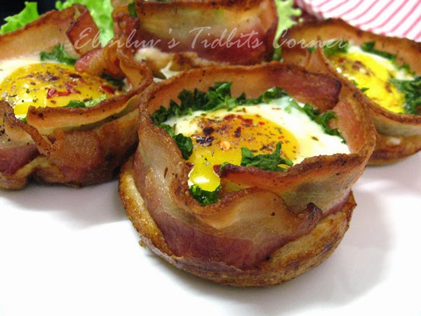 Elinluv's Tidbits Corner: Bacon Egg Muffin Cups