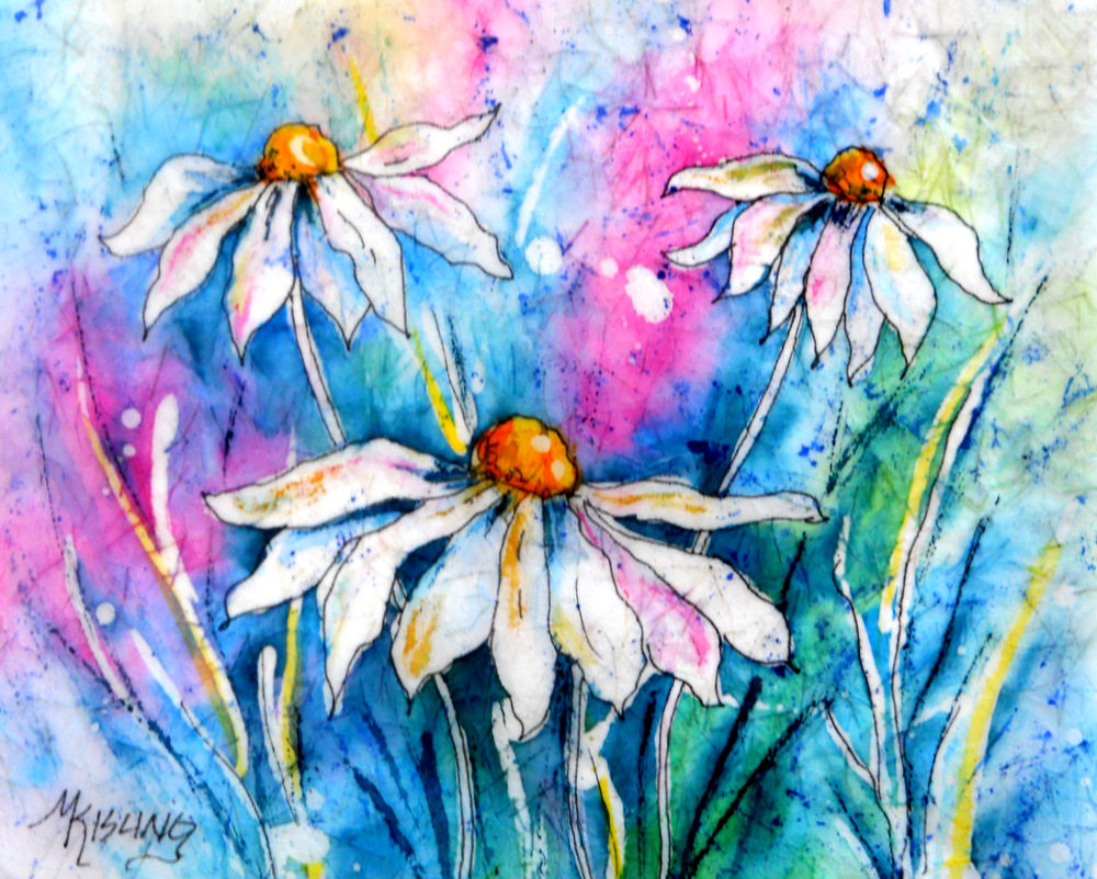 Martha kisling art with heart day 1 a week of watercolor flowers day 1 a week of watercolor flowers by martha kisling daisy petals izmirmasajfo Images