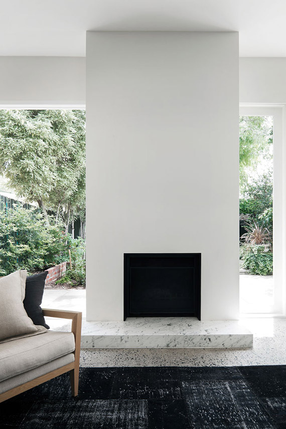 DECOR TREND: Minimalist fireplace | Christine Francis via Yatzer