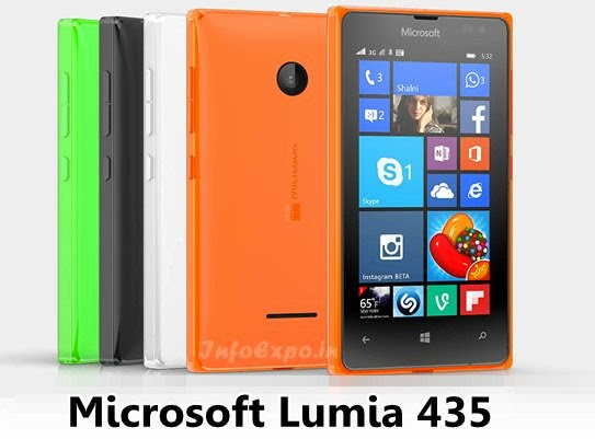 Microsoft Lumia 435: Cheap 4 inch,1.2GHz dual core Windows 8.1 Smartphone Specs, Price