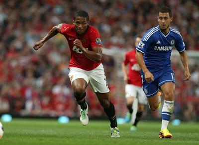 Valencia+hazard Manchester United v Chelsea 2013