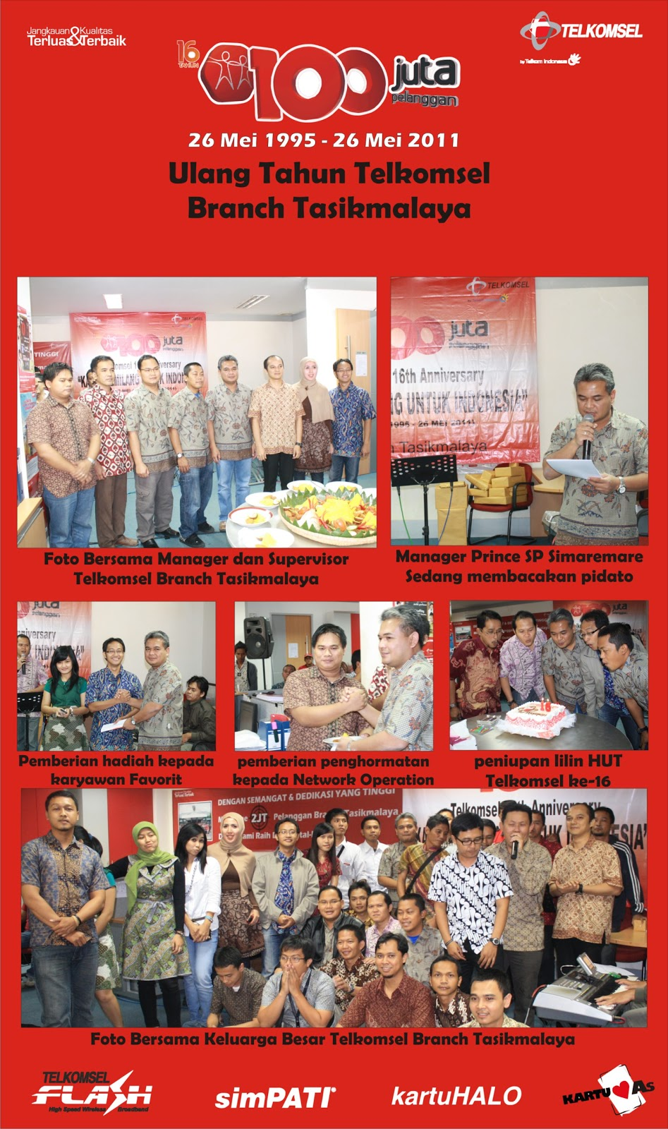 Ulang Tahun Telkomsel di Branch Tasikmalaya