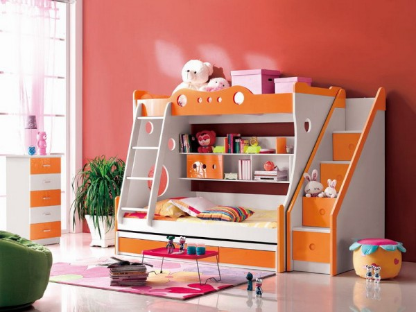 Best bunk beds bunk beds for kids precautions for for Girls bedroom decorating ideas with bunk beds