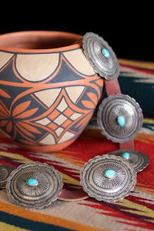 San Felipe Pueblo pot - G. Lovato  - 1920's concho