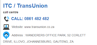 ITC / TransUnion Customer Service Number South Africa
