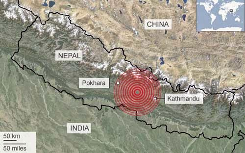 7.5 magnitude earthquake in Nepal
