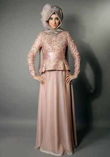Model Kebaya Brokat Muslim