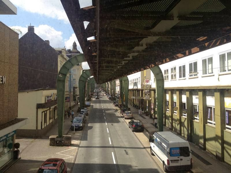 One of the most perfectly functional objects in the Old World - suspended monorail in Wuppertal