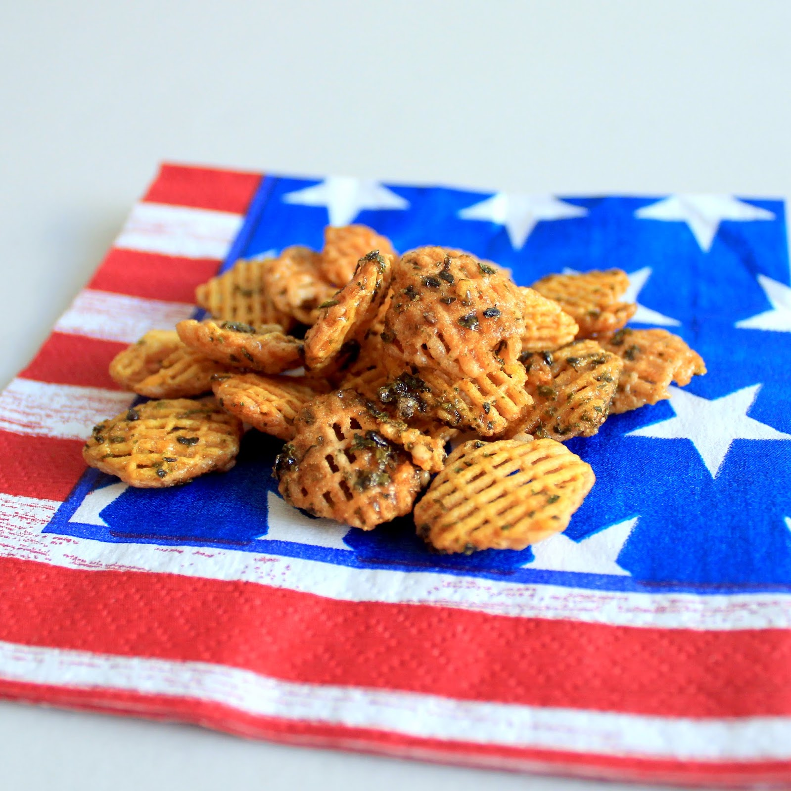 Snacks furikake chex mix