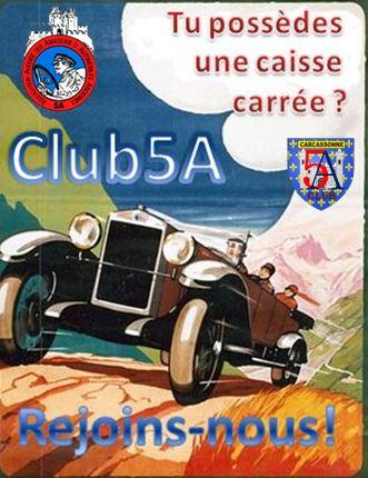 BULLETIN D'ADHÉSION AU CLUB DES 5A