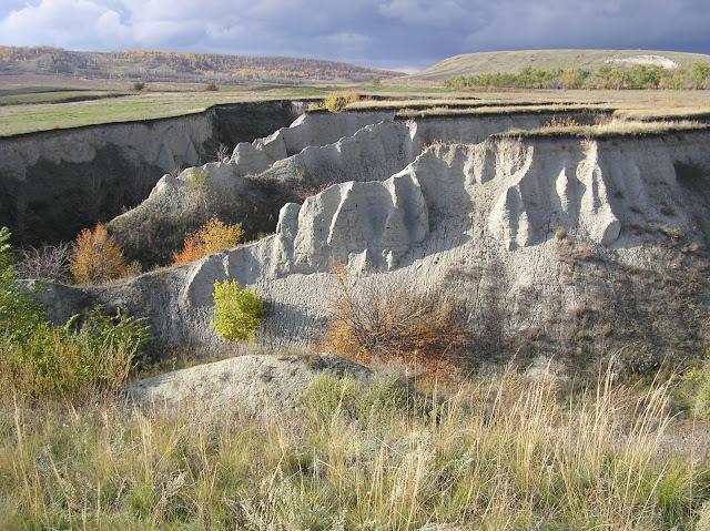 A gully in Saratov Oblast, Russia.