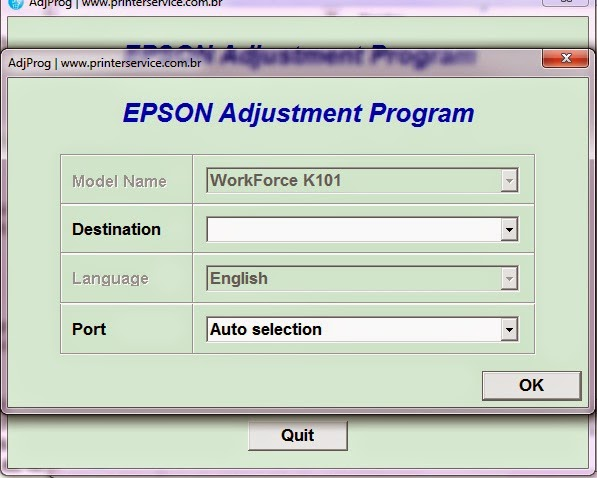 Adjustment program bx300f updater