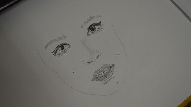 Drawing fan art of Johanna from Hots - part 1