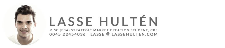 Lasse Hultén | Copenhagen | Creativity, Innovation, Branding and Marketing Student at CBS