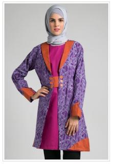 Trend Baju Muslim Atasan Batik Modis Untuk Remaja Masa Kini