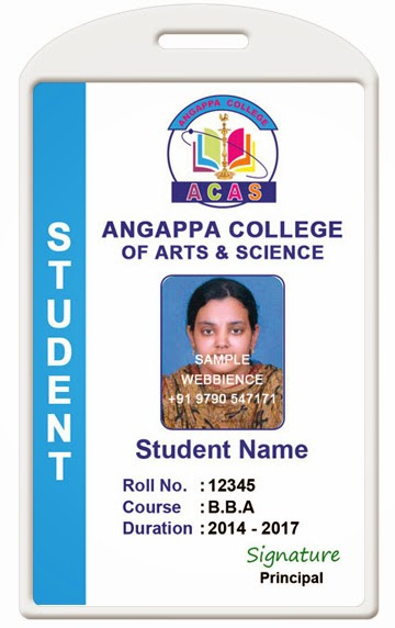 Id Card - Coimbatore - Ph: 97905 47171: College Id Card Template 1407