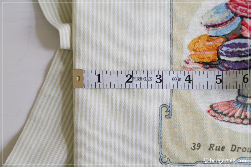 How to Frame a Tea Towel - Measuring for the Perfect Fit