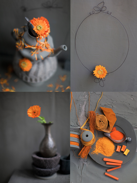 Orange And Grey Color Combination By Dietlind Wolf