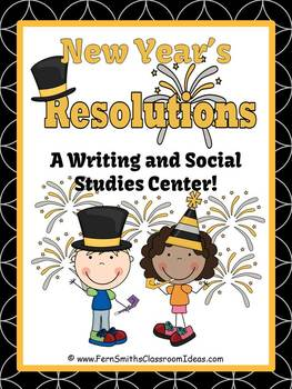 Fern Smith's New Years Themed Resolution Writing / Social Studies Center